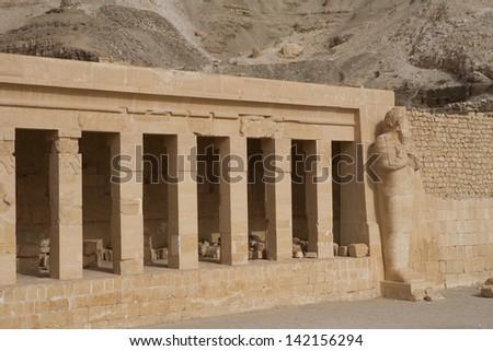 Egypt Temple of Luxor - stock photo