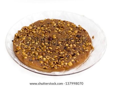 Egyptian dessert with hazel nuts - stock photo