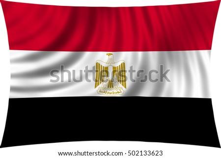 Egyptian National Official Flag Arab Republic Stock Illustration