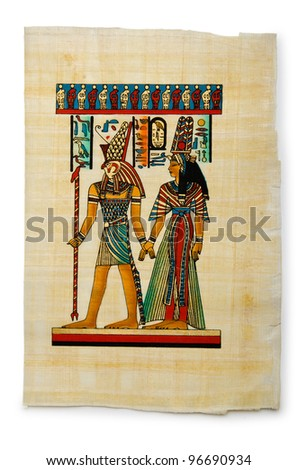 Egyptian papyrus as a background - stock photo