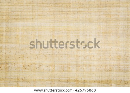 Egyptian papyrus paper background. Papyrus, a renewable plant resource, is the oldest writing material in existence today, dating back at least 5,000 years. - stock photo
