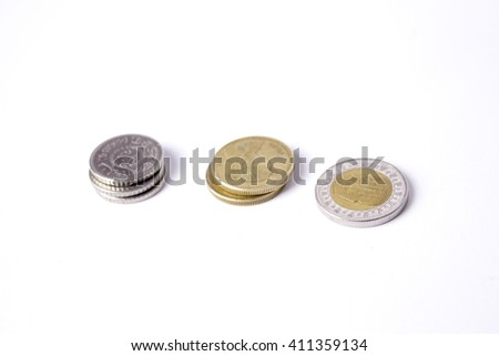 Egyptian Pounds Separated - stock photo