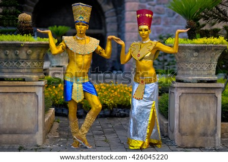 Egyptian style - and Pharaoh Nefertiti - stock photo