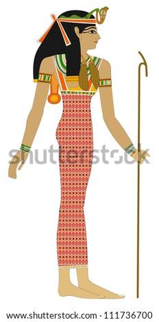 Egyptian woman - stock photo