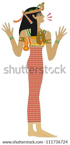 Egyptian woman - Remark - stock photo