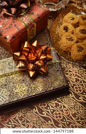 Eid gifts still life - stock photo