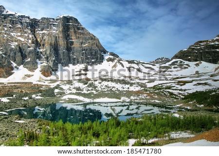 Eiffel Lake, Banff National Park, Alberta, Canada - stock photo