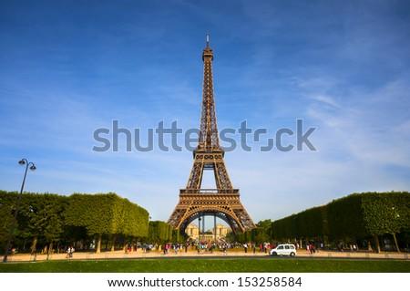 Eiffel tower in Paris - stock photo