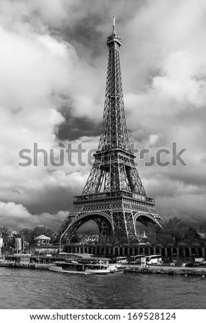 Eiffel Tower in Paris, France. - stock photo