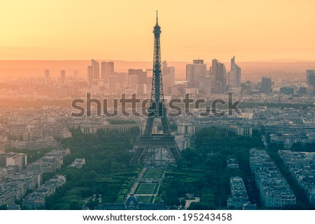 Eiffel Tower in Paris , France