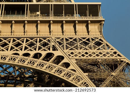 Eiffel Tower in Paris France seen from the Seine River
