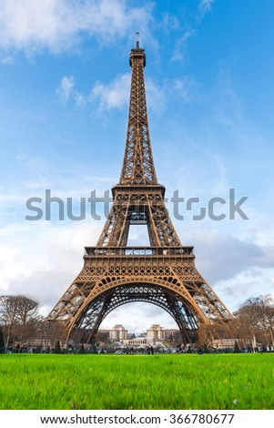 Eiffel Tower in the Winter, Paris, France