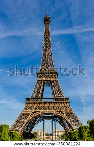 Eiffel Tower (La Tour Eiffel) located on Champ de Mars in Paris, named after engineer Gustave Eiffel. Eiffel Tower is tallest structure in Paris and most visited monument in world.