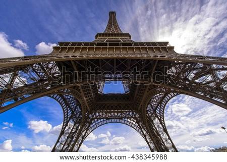 Eiffel Tower, Landmark of Paris, France - stock photo