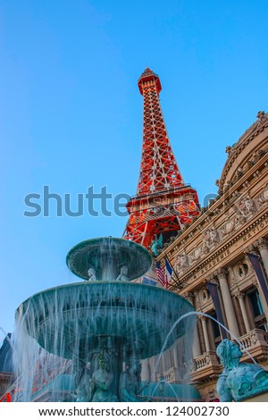 Eiffel tower on Strip, Las Vegas