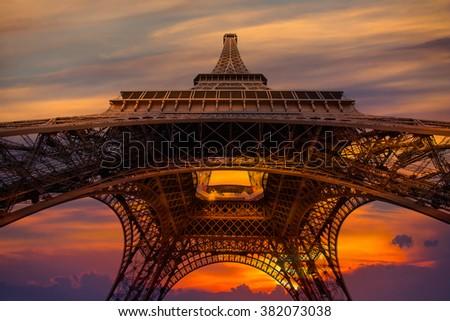 Eiffel tower, Paris. France - stock photo