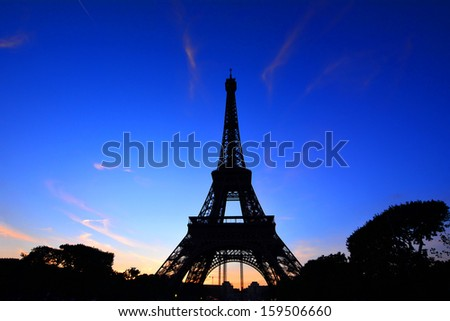 Eiffel tower, Paris France in summer