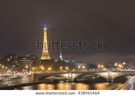 Eiffel Tower, Paris, France - January 2016
