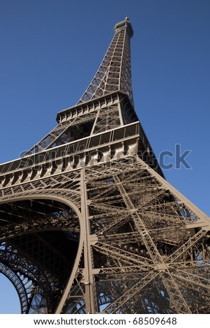 Eiffel Tower, Paris, France on Tilted Angle