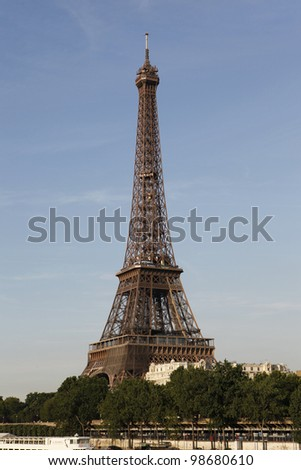 Eiffel tower picture - stock photo