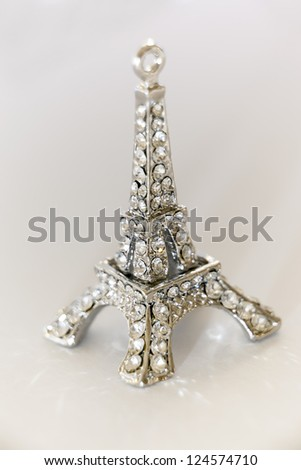 Eiffel Tower Shiny Souvenir Isolated - stock photo