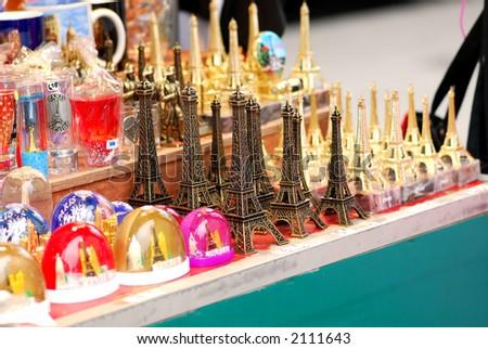 Eiffel tower souvenirs sale paris france stock photo 2111643 eiffel tower souvenirs for sale in paris france publicscrutiny Images