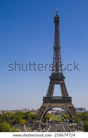 Eiffel Tower, the number one icon in Paris, France.
