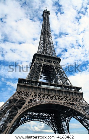 Eiffel tower, wide angle view