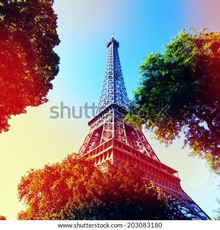 Eiffle Tower filter art photography. Paris. France - stock photo