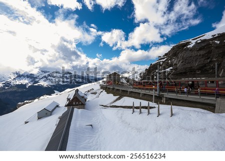 Eigergletscher stop - stock photo