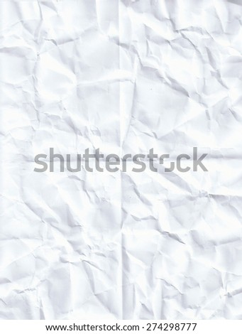 Eight 8 fold crumpled paper texture