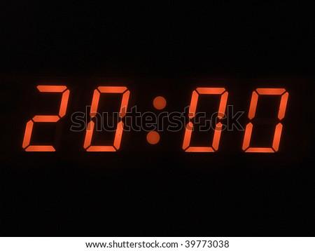 eight o clock pm - stock photo