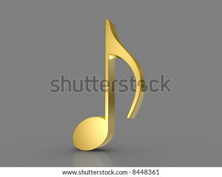 Eighth Note - stock photo