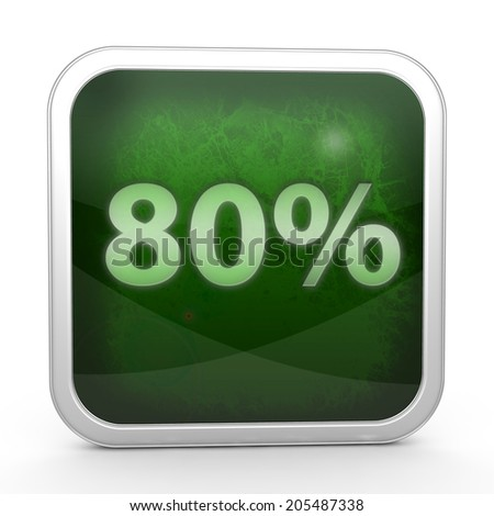 Eighty percent square icon on white background