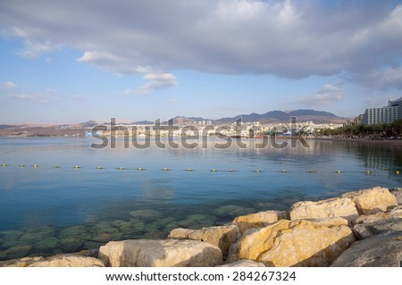 Eilat and the Red Sea - stock photo