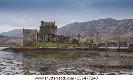 Eilean Donan, a Scottish castle on Loch Duich, Dornie, Scotland. - stock photo