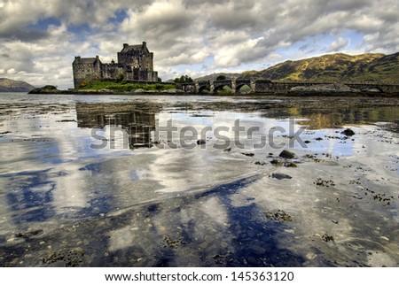 Eilean Donan Castle, Highland, Scotland - stock photo