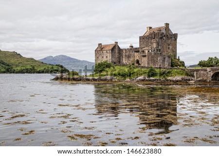 Eilean Donan Castle, Highland Scotland - stock photo