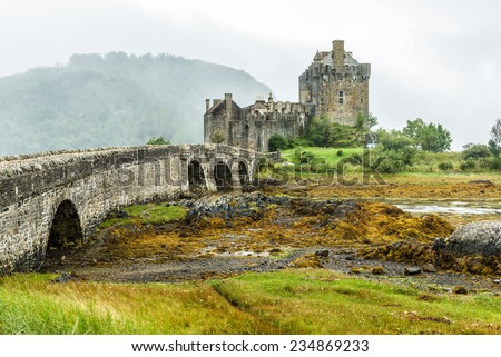 Eilean Donan Castle in the western Highlands is one of the most iconic images of Scotland, UK