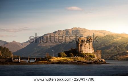 Eilean Donan Castle, Loch Duich, Scotland, UK - stock photo