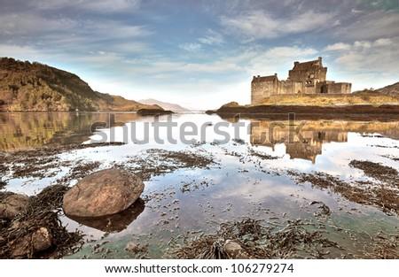 Eilean Donan Castle on Loch Duich - stock photo