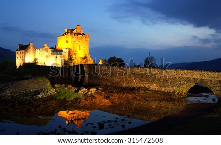 Eilean Donan Castle, Scotland - stock photo