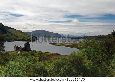 Eilean Donan Castle, Scotland. One of Scotland's most photographed castles - stock photo