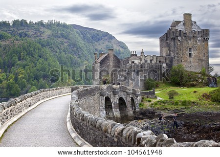 Eilean Donan Castle , Scottish Castle. - stock photo