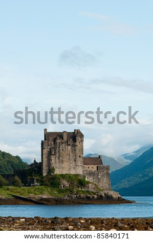 Eilean Donan castle, very popular landmark in Scotland - stock photo