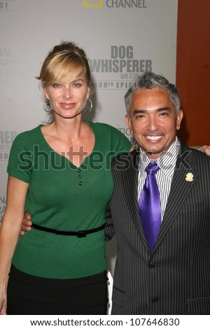 Eileen Davidson and Cesar Millan  at the party to celebrate the 100th Episode of 'Dog Whisperer'. Boulevard 3, Hollywood, CA. 09-17-08 - stock photo