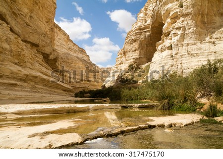Ein Avdat Canyon on the Negev desert.