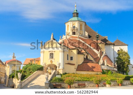 Eisenstadt Mountain Church (Haydn Church on Kalvarienberg), Burgenland, Austria - stock photo