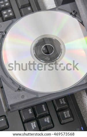 Ejecting disc from desktop computer. CD-DVD
