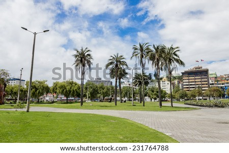 El Arbolito park in Quito Ecuador South America - stock photo